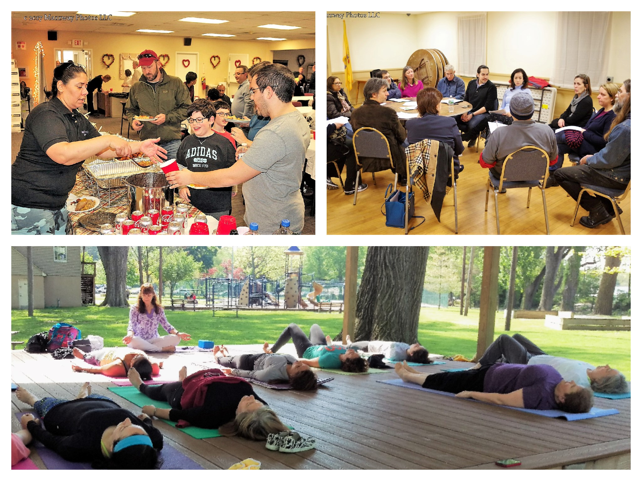 International Potluck, Monthly Meeting, and Yoga in the Park