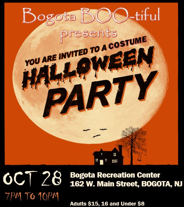 Bogota BOO-tiful Halloween Party! 10/28, 7pm-10pm